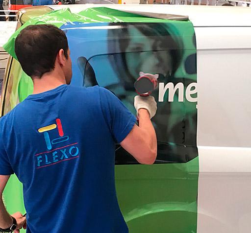 Rotulación Vehículos Vinilo Fundido Flexo Publicidad