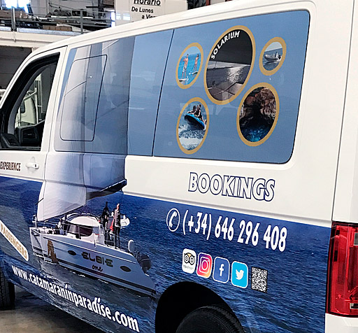Rotulación Vehículos Vinilo Microperforado Flexo Publicidad
